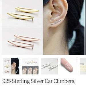 NEW 925 Sterling Silver Ear Climbers